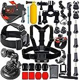 Leknes Kit de Accesorios de Deportes al Aire Libre para GoPro Hero 4 Kit de 3 + 3 2 1 Negro de Accesorios de Plata para GoPro SJ4000 SJ5000 Cámara de los Deportes