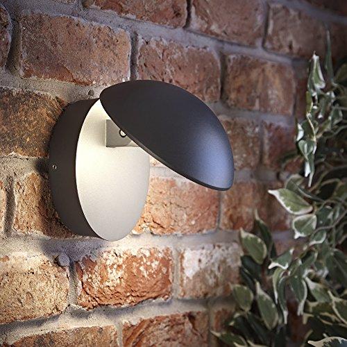 Biard Piombino Applique LED 13W Regolabile con Design Rotondo in Antracite per Interni o Esterni con Fascio di Luce Aggiustabile – Lampada a Tartaruga per Giardini e Bagni