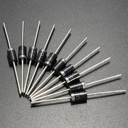 LaDicha 10Pcs Sb5100 5.0 A Schottky Diodo De Barrera 100V 5A