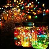 3packs Solar Mason Jar Licht - Maurer Glas LED Bunte Fee Jar Deckel Lichtbetriebene Gartentisch Außen hängend Laterne Lichter - dekorative, Flasche DIY, Außengrill, Sammeln, Weihnachten, Party, Hochzeit, Urlaub, Flasche Wünschend.(3pcs Farbe)
