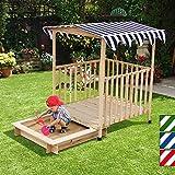 Sabbiera con tetto Veranda (scorrevole) legno casa giocattolo con 115x 115x 140cm (colore a scelta) immagine