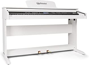 Schubert Subi88P2 • E-Piano • Keyboard • 88-Tasten • MIDI-Unterstützung • Anschlagdynamik • 138 vorinstallierte Instrumente • 118 Rhythmen • 31 Demo-Songs • 2 Pedale • LCD-Display • 3 Speicherplätze • zuschaltbares Metronom • Notenständer • weiß