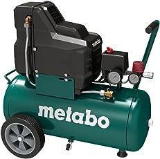 Metabo Kompressor für Druckluft-Werkzeug Basic 250-24 W OF / 8 bar Kompressor für mobile Einsätze / öllos mit Manometer