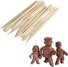 Bulfyss 10Pcs 6inch Pottery Ceramic Clay Sculpture Carving Modelling Molding Craft Tool - 15cm