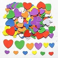 Coeurs en Mousse,540-600 Pièces Adhésifs Mousse Forme Coeur Autocollantes pour Enfants Decooration Artisanat Bricolage