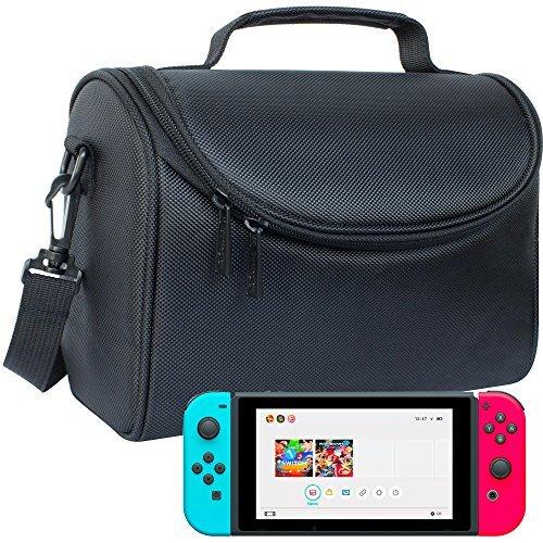 Butterfox Nintendo Switch Tragen-alle Tasche - 【Schwarz】 Genügend Platz für Konsole、Nintendo Switch-Station、Joy-Con-Controller、Joy-Con-Halterung und Nintendo Switch-Netzteil