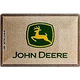 Nostalgic-Art 22222 John Deere - Patch Logo, Blechschild 20x30 cm