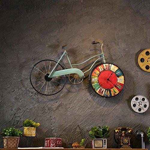 CNBBGJ Fer à repasser, réveil Vintage Bicyclette Mur, créatrice d'objets de décoration intérieure, décoration murale, Bar Cafe Wall Hanging,