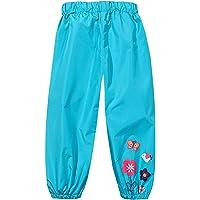 TURMIN Ragazzi Ragazze Pantaloni Antipioggia Impermeabili Ragazze Fango Antisporco Pantaloni Bambini Leggeri Fiori…