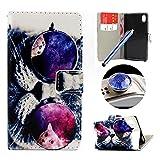 Etche Sony Xperia M4 Aqua Flip Cover Hülle, Sony Xperia M4