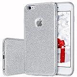 MILPROX iPhone 6s Plus Hülle, Glitzer-Schutzhülle schützende Hülle, kompatibel mit iPhone 6 Plus-Silber