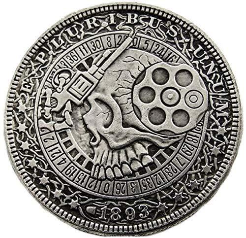 ARUNDEL SERVICES EU 1893 USA Replik Morgan-Dollar-Münze Gewehr Design Schädel Zombie Skelett Vereinigte Staaten von Amerika Geld Dollar-Münze