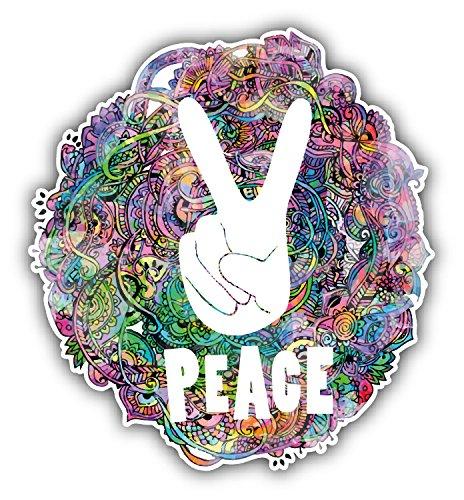 Peace Sign Hippie Watercolor Style Pegatina de Vinilo Para la Decoracion del Vehiculo 12 X 12 cm