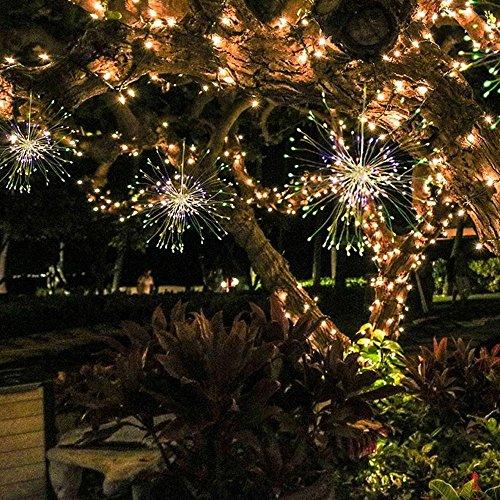KOBWA Bouquet Forme Fée Lampes LED, 8 Modes 100 LED Feux d'artifice en cuivre Guirlande Lumineuse Bouquet Forme à Piles étanche pour DIY Décoration de Table de Mariage, fête