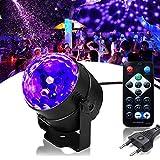 Discokugel UV Beleuchtung SOLMORE LED Lichteffekte Disco Licht Schwarzlicht Partylicht mit Fernbedienung 3W Bühnenlicht für Dekoration Party Bar Club Disco Karneval