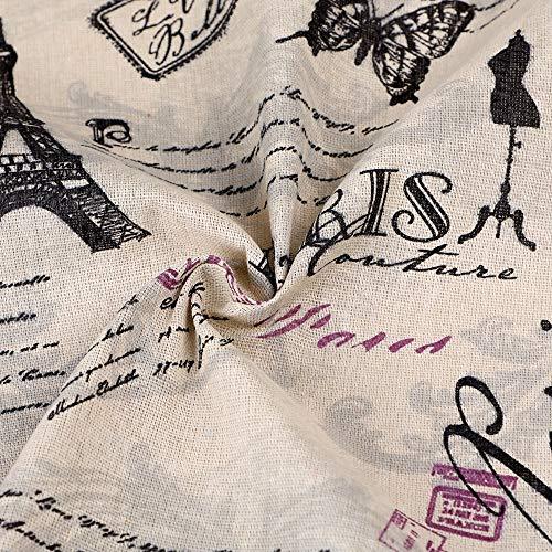 Souarts Stoffe Basteln Patchwork Baumwoll und Leinenstoff Stoffpakete DIY 150x100cm (1) -