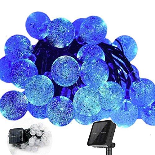 EONHUAYU Ball Lichterketten, 20ft 30 LED Solar Crystal Ball Lichterketten Wasserdicht für Garten,...