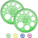 AFASOES 2 stks 360 graden Protractor Cirkel Liniaal Wiskunde Protractoren Geometrie Kunststof Protractor Hoek Meting Tool 11,
