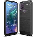 JGD PRODUCTS Carbon Fiber Armor Drop Tested Shock Proof TPU Back Case Cover for Moto G10 Power/Moto G30 (2021)