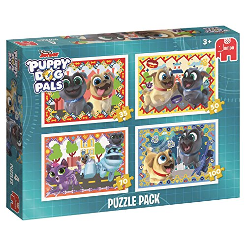Disney 196284in 1Pack Puppy Dog Pals Puzzle, Multi