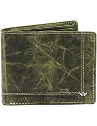 DHide Designs Casual Wallet For Men - Multi-Compartment Genuine Leather Wallet For Men - 9 Slots - Green