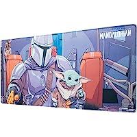 Grupo Erik - Tappetino per mouse da gioco XXL Star Wars, The Mandalorian, Baby Yoda con base in gomma antiscivolo e con…