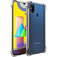 Amazon Brand - Solimo Mobile Cover (Soft & Flexible Shockproof Back Case with Cushioned Edges) for Samsung Galaxy M31…