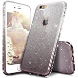 "Coque iPhone 6S Plus,Coque iPhone 6 Plus,Étui iPhone 6S Plus / 6 Plus Case,ikasus® Layer 3 Crystal Clear dur PC & Souple Gel TPU & Glitter Stickers Case Cover Coque pour iPhone 6S Plus / 6 Plus Silicone Étui Housse Téléphone Couverture TPU Dégradé de couleur Luxe Shiny Glitter Cristal Bling Étincelle Glitter Diamant strass Ultra Mince Premium Semi Hybrid Crystal Clear Flex Soft Skin Extra Slim TPU Case Coque Housse Étui pour Apple iPhone 6S Plus / 6 Plus 5.5"" - Noir"