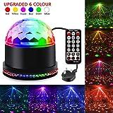 SAKUUMI Disco Lights, Party Lights DJ Light Stage Strobe Effects 6 Colors LED
