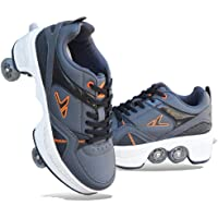 YYW Deformation Roller Skate Shoes Double-Row Roller Shoes For Women Men Adult Sneakers Running Shoes with Deform Wheels…