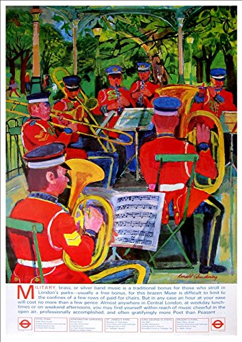 london-underground-military-bands-wonderful-a4-glossy-art-print-taken-from-a-rare-vintage-railway-po