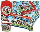 Libetui 37 Teile Paw Patrol Party Geschirr Set Kindergeburtstag Teller Becher Servietten Tischdecke für 8 Kinder
