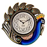 Vintage Clock Peacock Blue Wall Clock (3...