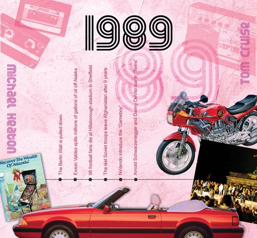 1989 Birthday Gift - 1989 Chart CD and Greeting Card