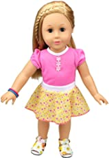 B : Fashion Clothes Dresses For 18 Inch Baby Dolls, Newborn Dolls, American Girl Dolls And Other 16 - 18 Inch Dolls (B)