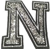 Bügel Iron on Buchstaben Aufnäher Patches groß für Jacken Cap