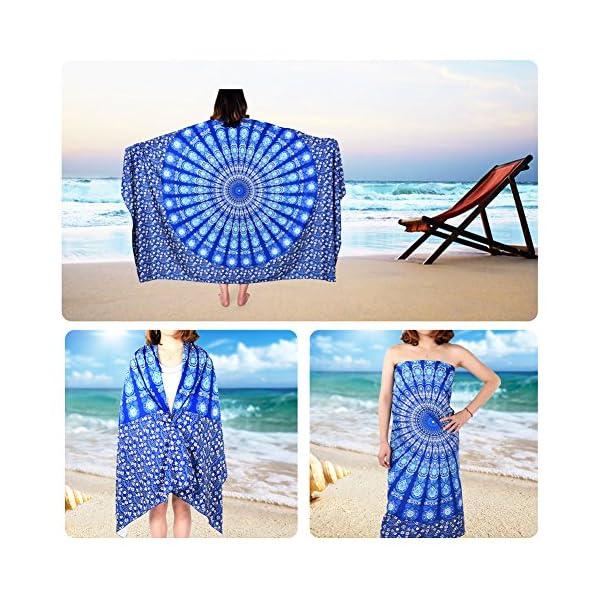 Vbiger Telo Mare Asciugamani Mare Abbigliamento da Mare Telo Mare Donna Bikini Cover-up 2 spesavip