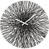 Koziol Silk Reloj de Pared, Negro, policarbonato