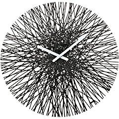 Idea Regalo - KoziolSILK 2328 –Orologio da parete, Nero solido, 3.5  x  44.8  x  44.8 cm