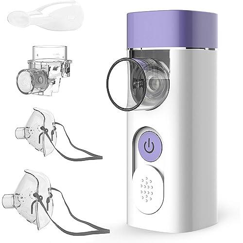 HYLOGY Aerosol Ultrasuoni Silenzioso con Nebulizzatore Portatile e Inalatore Silenzioso - con Boccaglio e Maschera per i Bambini e Adulti Ricaricabile con USB