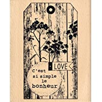 Florilèges Design FG115053 - Timbro per scrapbooking, fantasia: felicità, 10 x 7 x 2,5 cm, colore: beige [lingua francese]
