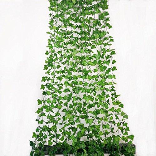 ShinyBeauty 12 (84 F¨¹?e) K¨¹nstliche Ivy Leaf Sichtschutz Zaun Fake Ivy Vines Outdoor f¨¹r...