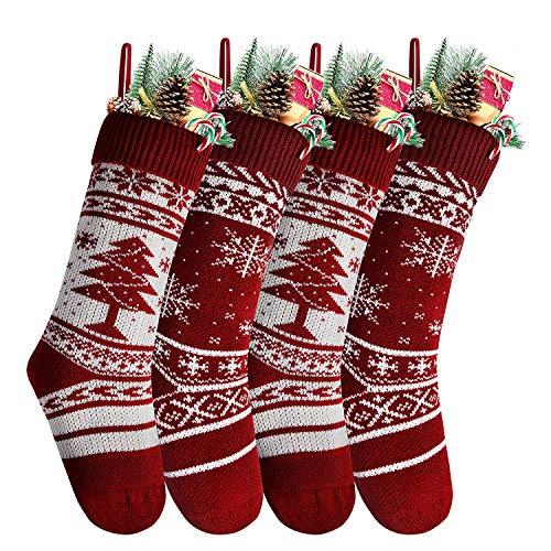 Charlemain Calza di Natale Set 4 Pezzi Calza Natalizia, Decorazione Natalizia da Appendere...