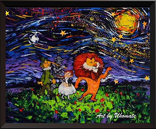 von Oz Vincent van Gogh Starry Night Poster Home auf Leinwand, Jahrestag Geschenke Baby Kinderzimmer Decor Wohnzimmer Wanddekoration A030, 11x14 inch ()