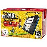 N3DS: Nintendo 2DS - Konsole (schwarz) inkl. New Super Mario Bros. 2 (vorinstalliert)