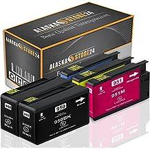 5xCartuchos de tinta Compatible para HP 950XL 951XL HP 950 951 XL 950 XL 951 XL Alta capacidad para su uso en HP Officejet Pro 8600 8610 8620 8630 8640 8660 8615 8616 8625 8100 8110 251dw 271DW 276dw e-All-in-One, CN048AN CN046AN CN045AN CN047AN con nuevos Chips