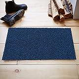 #5: Kuber Industries™ Micro Fiber Door Mat for Offices,Hotel ,Restaurtaurant, Home,Shop Set of 1 Pc (60*40 Cm) Blue