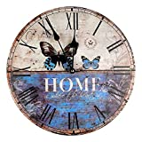 Reloj de Pared 30 cm Vintage Look Home is where the heart is