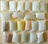 Rocailles Weiss Crystal Set 2mm 3mm 4mm 6mm Perlen Glas 20 Pack 400g AM19