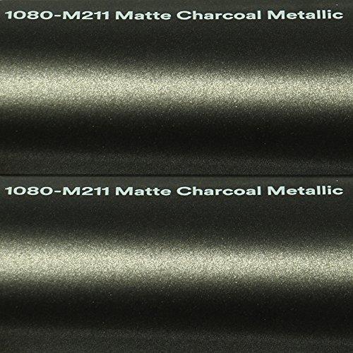 3M Autofolie Scotchprint Wrap Film 1080 matte charcoal metallic gegossene Matt Profi Folie 152cm breit BLASENFREI mit Luftkanäle -